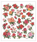Classic Rose Glittered Multi Color Stickers
