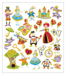 The World Of Alice Glittered Multi Color Stickers