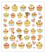 Tea Time Glittered Multi Color Stickers