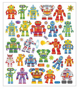 Robots Mulit Color Foil Stickers