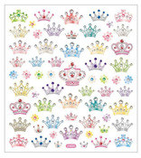 Bejeweled Crowns Mulit Color Stickers