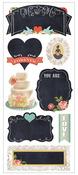 Vintage Wedding Chalkboard Stickers - Paper House