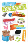 Off To College 3D Stickers - Paper House