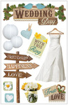 Wedding Day 3D Stickers - Paper House