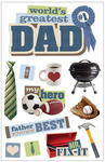 Greatest Dad 3D Stickers - Paper House