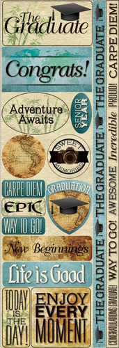 Carpe Diem Graduate Stickers - Reminisce