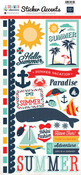 Summer Adventure Sticker Accents - Echo Park