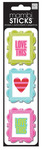 Love This Frames Puffy Stickers - Me And My BIG Idea