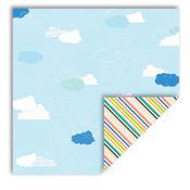 Clouds/Diagonals Paper - Summer - Queen & Co