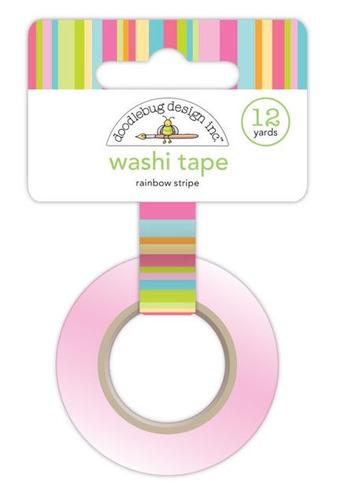 Rainbow Stripe Washi Tape - Springtime - Doodlebug