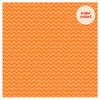 Tangerine Sugar Coated Chevron Cardstock - Doodlebug