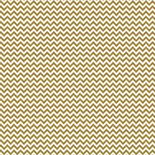 Gold Chevron Sugar Coated Cardstock - Doodlebug