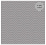 Grey Chevron Sugar Coated Cardstock - Doodlebug