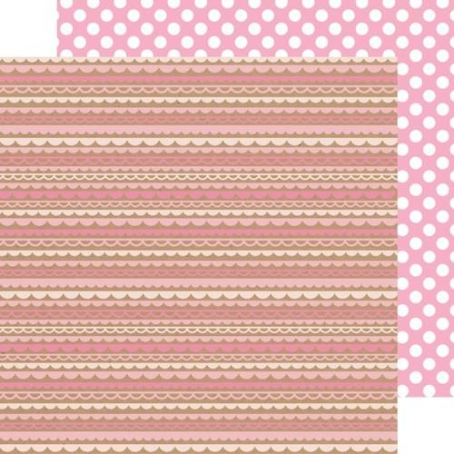 Cupcake Scallop - Dot Paper - Kraft In Color - Doodlebug