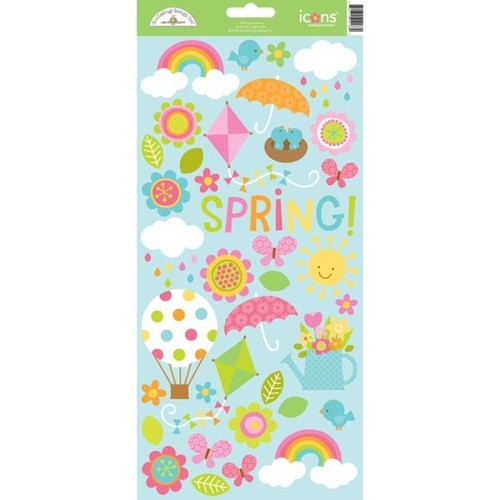Springtime Icon Sticker Sheet #1 - Doodlebug