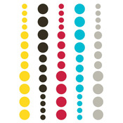 DIY Enamel Dots Teal Red Yellow - Simple Stories