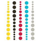 DIY Enamel Dots Teal Red Yellow - Simple Stories