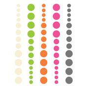 DIY Enamel Dots Pink Green Orange - Simple Stories