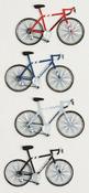 Road Bikes Mini Stickers - Little B