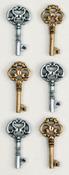 Antique Keys Mini Stickers - Little B