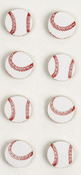 Baseball Mini Stickers - Little B