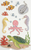 Sea Creatures Medium Stickers - Little B