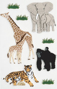 Zoo Animals Medium Stickers - Little B