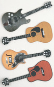 Guitars Medium Stickers - Little B
