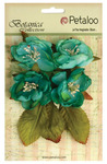 Teal Botanica Blooms - Botanica Collection - Petaloo
