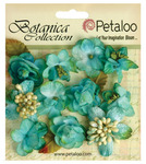 Teal Botanica Mini Flowers - Petaloo