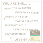 You Are White Die Cut Cardstock Placemat - Jillibean Soup
