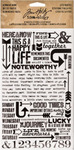 Life Quotes Remnant Rubs - Tim Holtz