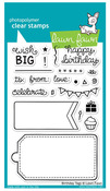 Birthday Tags Clear Stamps - Lawn Fawn