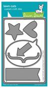 """Stitched 4""""X6"""" Journaling Card Lawn Cuts Dies - Lawn Fawn"""