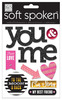 True Love You & Me Soft Spoken Embellishments - Me And My Big Ideas Each soft spoken™ design features self-adhesive, dimensional embellishments.  With eye-catching specialty treatments and top quality designs, they are the perfect addition to any project.    Sheet size is approx. 4.5  x 6 .