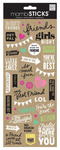 Best Friends Doodle Words Stickers - Me And My Big Ideas
