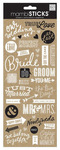 Wedding Doodle Words Stickers - Me And My Big Ideas