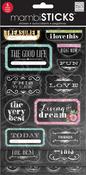 Chalk Treasured Glitter Stickers