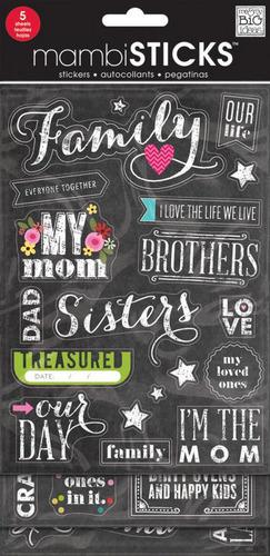 Chalk Family Mambi Stickers