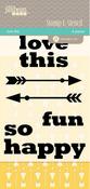 Love This - Jillibean Clear Stamp & Stencil Set