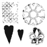 Gothic Romance 12 x 12 Stencil - The Crafters Workshop