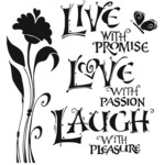 Live Laugh Love 12 x 12 Stencil - The Crafters Workshop