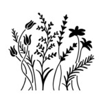 Wildflowers 6 x 6 Stencil - The Crafters Workshop
