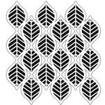 Art Deco Leaves 6 x 6 Stencil - The Crafters Workshop