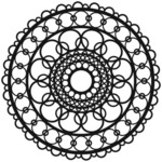 Ring Doily 6 x 6 Stencil - The Crafters Workshop