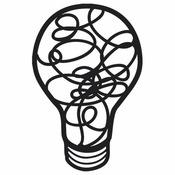 Light Bulb Bits 4 x 4 Stencil - The Crafters Workshop