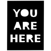 You Are Here Fragments 4 x 4 Stencil - The Crafters Workshop