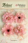 Pink Burlap Blossoms - Textured Elements - Petaloo