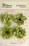 Pistachio Burlap Blossoms - Textured Elements - Petaloo
