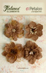 Natural Burlap Blossoms - Textured Elements - Petaloo
